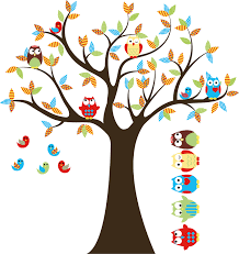 kids tree with 4 owls 7 birds and set of 5 free owls nursery zoom