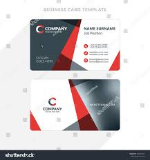 Flat Design Business Card Creative Clean Doublesided Business Card Template Stock Vector