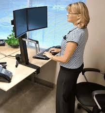 stand up desk multiple monitors ergotron 33 341 200 workfit s adjustable standing desk mount