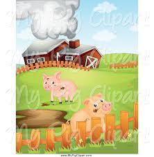 A Cartoon Barn Royalty Free Cartoon Stock Pig Designs