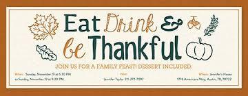 eat drink be thankful invitation fall wedding
