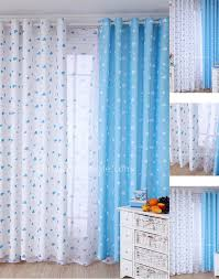 cute blue and white bedroom best quality nursery curtains boy