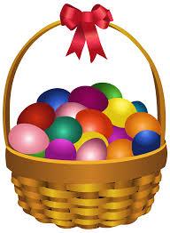 easter eggs in basket transparent png clip art image gallery