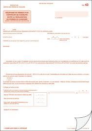 bureau permis de conduire réf 43 récéé de remise d un certificat de conduite suite à l