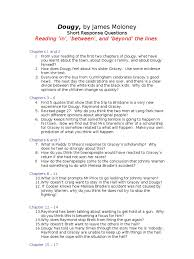 Cover Letter Examples For Returning To Work Moms by English Yr 8 Unit 2 Resource Dougy Short Response Q U0027s