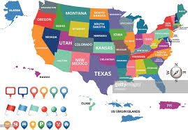 america map united states of america map vector getty images