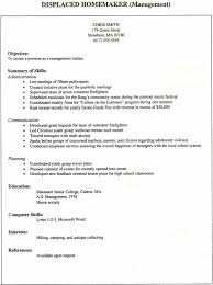 Resume Sample Youth Worker by Resume Example For A Resume Examples Homemaker Cover How To Make