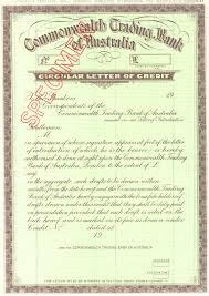 Letter Of Credit In Australia the circular letter of credit