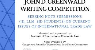 Seeking Greenwald D Greenwald Writing Competition Georgetown Journal Of