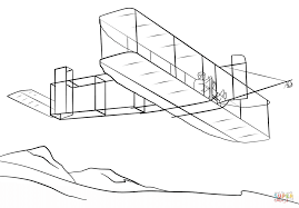 wright brothers airplane coloring page free printable coloring pages