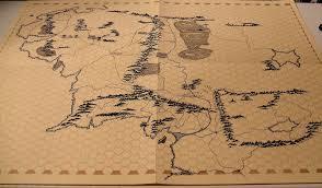 Map Of Mordor Middle Earth On A Judges Guild Wilderlands Sheet Original D U0026d