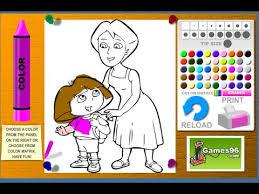 dora explorer coloring games dora mom coloring games