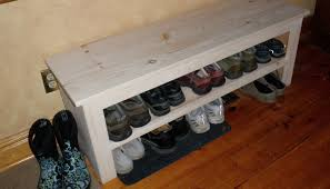 34 inch upholstered top shoe rack bench by on etsy full image