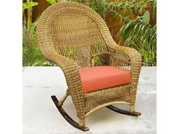 northcape international charleston high back wicker rocker