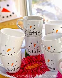 snowman sharpie mugs christmas in new york pinterest