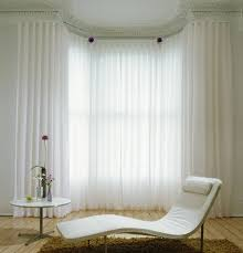 Window Sheer Curtains Sheer Curtain Ideas For Bay Windows Gopelling Net