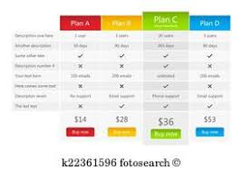 pricing table template clip art and illustration 943 pricing