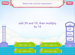 write expressions worksheets fifth grade math