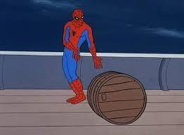 Spiderman Meme Generator - spiderman barrel blank template imgflip