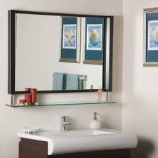 Bathroom Shelf With Mirror Mirrors With Shelves Drawers You Ll Wayfair