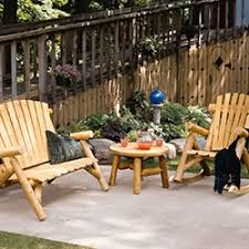 Patio And Outdoor Furniture Rustic Outdoor Furniture Log Wood Patio Furniture