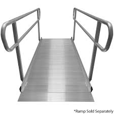 Wheelchair Ramp Handrails Titan 8 U0027 Wheelchair Entry Ramp Handrails Only