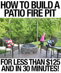 How To Build Fire Pit On Concrete Patio How To Build A Patio Firepit How To Nest For Less