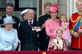 the royal family celebrates trooping the colour 2017