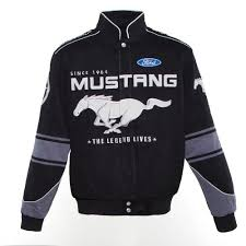 ford mustang jacket ford s twill mustang jacket black medium 975087 pep boys