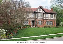 English Tudor Home English Tudor Home Fall Stock Photo 335045441 Shutterstock