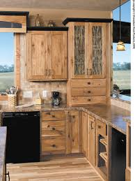Rustic Hickory Cabinets Houzz - Hickory kitchen cabinets pictures