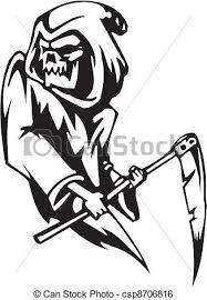 grim reaper halloween set vector illustration clip art