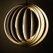 moon hanging lamp by verner panton for louis poulsen 1950s 34828