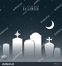halloween tombstone graveyard black white abstract stock vector