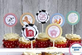 farm cake toppers farm animal cupcake toppers diy printable