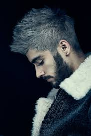 grey hair on zayn malik hairstyle pinterest zayn malik gray