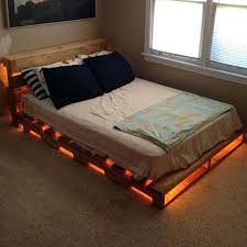 bed frame with lights how to make a pallet bed pallet bed ideas and plans pallet bed with