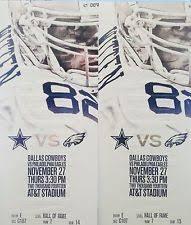 cowboys tickets thanksgiving ebay