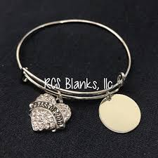 bangle bracelet with heart images Heart graduation bangle bracelet rcs blanks llc JPG