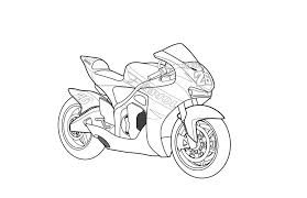 free printable motorcycle coloring pages kids