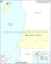 Where Is Monaco Located On A Map Where Is Malabo Location Of Malabo In Equatorial Guinea Map