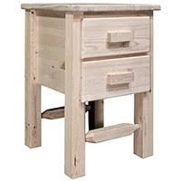 log nightstands rustic log furniture by amish meadows