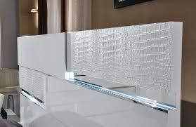 Modrest Ancona Italian Modern White Bedroom Set - White leather headboard bedroom sets