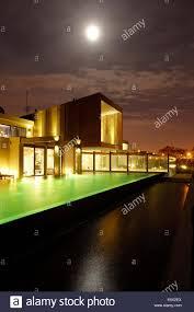 hotel pool at night during full moon hotel areias do seixo povoa