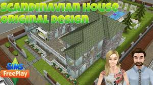 Home Design Story Pc by The Sims Freeplay Two Story Scandinavian House Original Design