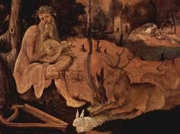 onlinekunst.de: Gemälde Orpheus und die Tiere von Hans Leu - 400_orpheus