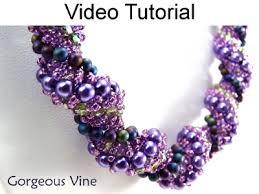 Beaded Jewelry Making - dutch spiral stitch necklace bracelet beading jewelry making video