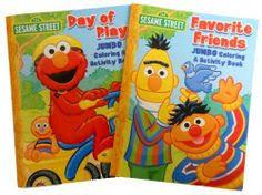 1 sesame street outdoors coloring book 4 bendon