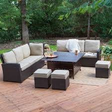Patio Furniture Sets With Fire Pit by Belham Living Monticello All Weather Wicker Fire Pit Chat Set With