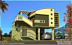 house exterior elevation modern style kerala home design and floor